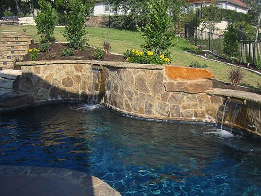 Pool landscape designs pictures of san antonio backyards for Pool design hillside