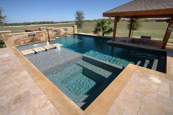 Stunning spas to enhance your austin pool texas pool for Pool design austin
