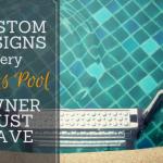 Custom pool features in Austin